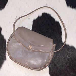 Vintage Christian Dior small gray shoulder purse